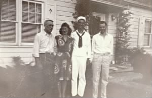 Bill with dad, Ernie; sister, Ann; brother, Ray