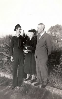 Bill, grandmother Olivah Ann Wardle Eickhoff, dad Ernest Eickhoff