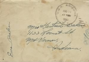 letter from U.S.S. Arizona
