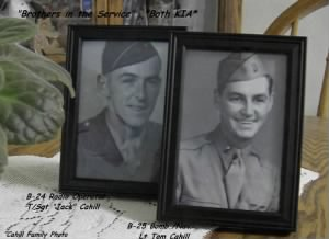 "WWII ""Brothers in Service"" L) Jack and Tom, both men were KIA (Germany/Italy)"
