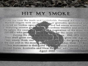 Hit My Smoke monument dedicated to Forward Air Controlers