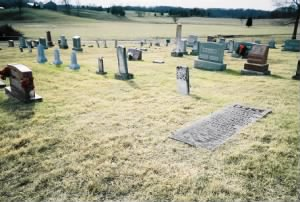 A general view of the cemetery. This photo was taken by the caretaker of the cemetery.