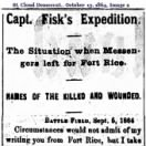 Capt Fisk Expedition - Casualty