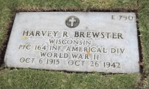 Harvey R. Brewster grave