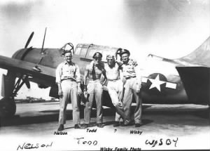 27 Fighter Group, P-40's, Lt Joseph Wisby with TODD and NELSON (Photo from Diego)
