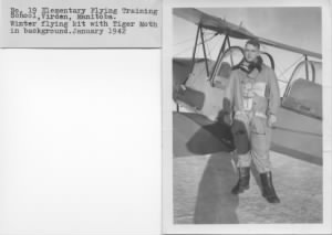 Ogden with his TIGER MOTH in Canada