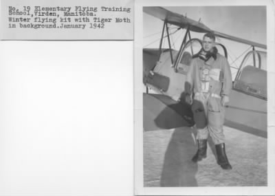 Ogden with his TIGER MOTH in Canada - Fold3.com