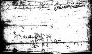 Ephraim Oliphant Land Warrant Voucher for Son Benj.JPG