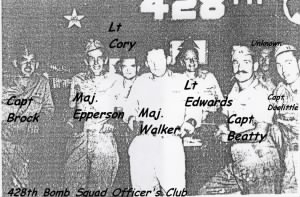 Capt. Doolittle with his fellow Officers, 428th Officer's Club