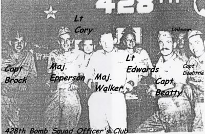 Capt. Doolittle with his fellow Officers, 428th Officer's Club - Fold3.com