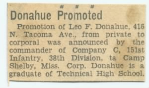 Donahue Promoted