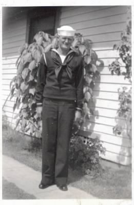 Carl Yandell in WWII Navy Uniform