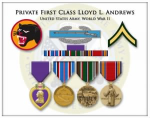 Shadow Box for PFC Lloyd L. Andrews