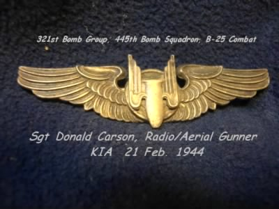 321st BG, 445th BS, B-25 SGT Donald Carson, KIA on 21 Feb.'44 Shot-Down over Target - Fold3.com