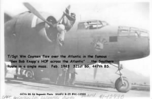 "321stBG,447thBS, T/Sgt Wm ""BILL"" Coursen, His ship, the SNAFU in the Knapp Flight Over/ Feb.'43"