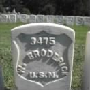 Landsman William Broderick Navy Headstone