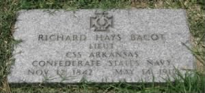 Lieut Richard Hays Bacot CSN Headstone