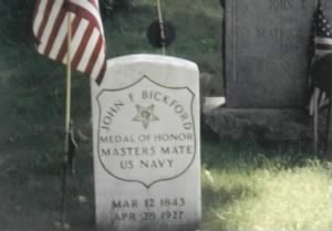 Masters Mate John F Bickford Navy Headstone