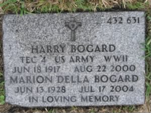 Tec4 Harry J. Bogard Army Headstone