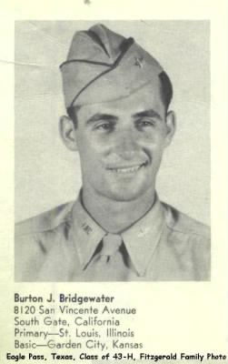 Lt Burton Bridgewater, Grad Photo, Advanced Flying, Eagle Pass, TX  Class 43-H