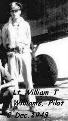 321stBG,447thBS, Wm. T Williams, KIA - Cheiti Mission, Italy 2 Dec. 1943