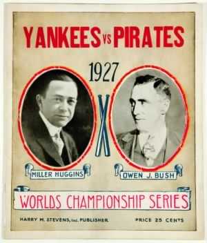 1927 World Series Program