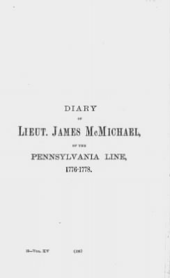 Diary of Lieut. James McMichael, of the Pennsylvania Line, 1776-1778. › Page 193 - Fold3.com