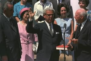 Goldberg being sworn in as U.N. Ambassador