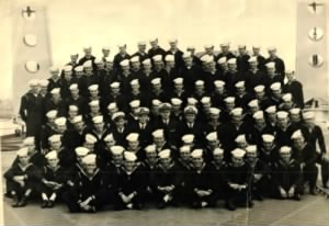 USS Baltimore (Clifton in front row)