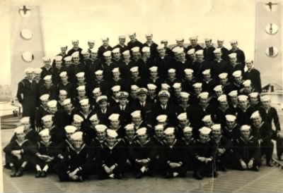 USS Baltimore (Clifton in front row) - Fold3.com