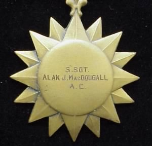 Air Medal for S/Sgt Alan J MacDougall, 321st BG and 310th BG in the MTO /WWII