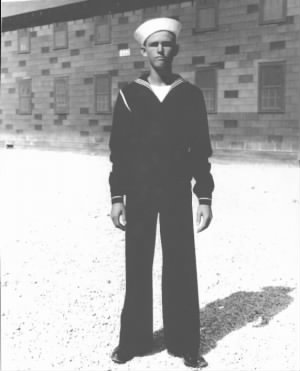 Clifton Carpenter in Navy Uniform - 1942