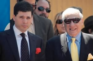 Mel Brooks and son, 2010