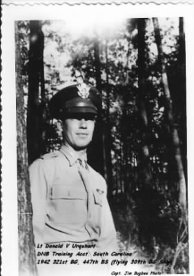 321st BG, 447th BS, Lt Donald Urquhart, Killed in Training Accident, 1942