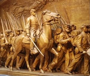 Memorial to Shaw and the 54th Regiment at the National Gallery of Art