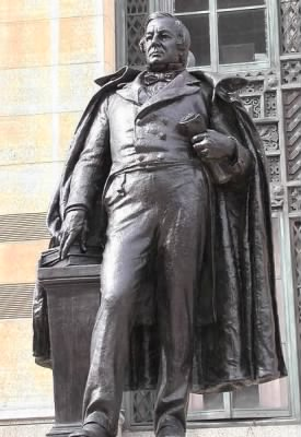 Statue of Fillmore outside City Hall in downtown Buffalo, New York.jpg