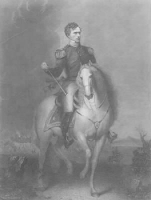 Portrait of Franklin Pierce as a general mounted on a horse.jpg - Fold3.com