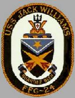 USS JACK WILLIAMS (FFG-24) CREST