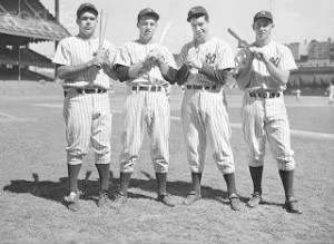 Charlie Keller, Tommy Henrich, Joe DiMaggio and Joe Gordon.jpg