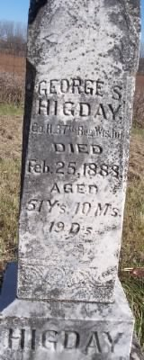 George Stephen Higday Headstone now.jpg
