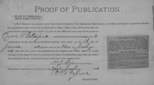 Ozro H Gillespie Proof of Notice Publication.jpg