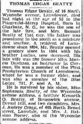 Thomas Edgar Beatty 1940  Obit.JPG