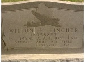 Wilton E Fincher Headstone  Rear.jpg