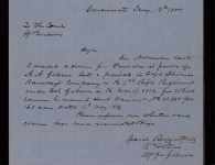 Received 160 acres of bounty land for War of 1812 service