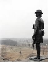 Monument of Gen. Warren looking over the battlefield from Little Round Top.jpg