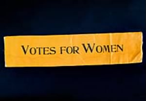 Suffrage Sash, around 1910