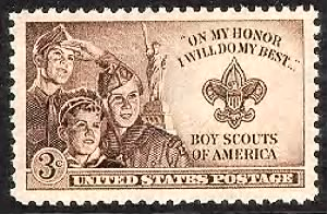 Three Boy Scouts, badge, Statue of Liberty.gif