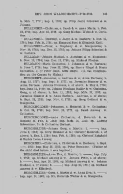 Baptismal and Marriage Records. Rev. John Waldschmidt, Cocalico, Moden Krick, Weisseichen Land and Seltenreich. Gemeinde. Lancaster County, Penna. 1752-1786. › Page 163 - Fold3.com