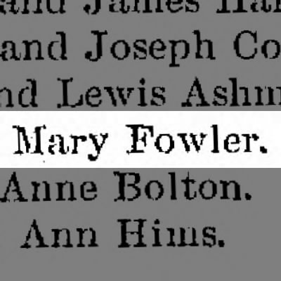 Fowler, Mary