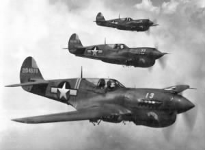Curtis P-40 Warhawks on a mission.jpg